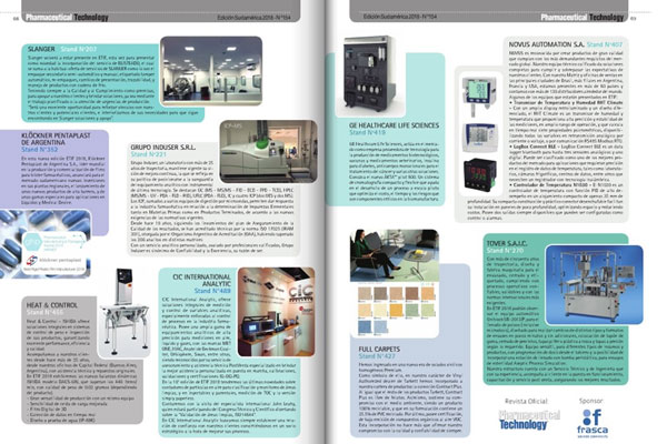 GRUPO INDUSER PRESENTE EN LA REVISTA PHARMACEUTICAL TECHNOLOGY